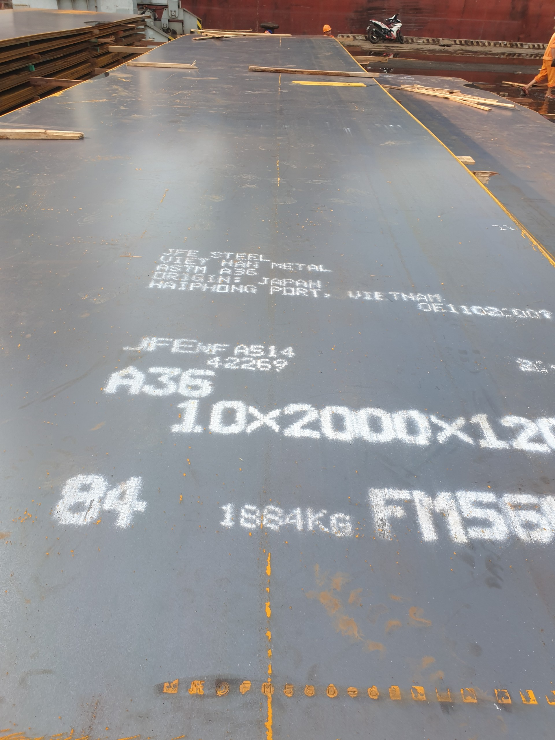 8.9.20  HOT ROLLED STEEL PLATE - A36 JFE JAPAN